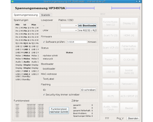Screenshot Spannungsmessung